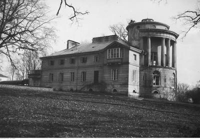 Widok ogólny pałacu od strony północnej, 1918-1938