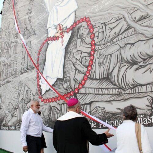Mural poświęcony patronowi Jarosławia bł. o. Michałowi Czartoryskiemu OP. Autorem projektu i wykonawcą jest Marek Gliwa. Odsłonięcie  9 czerwca 2018 r.