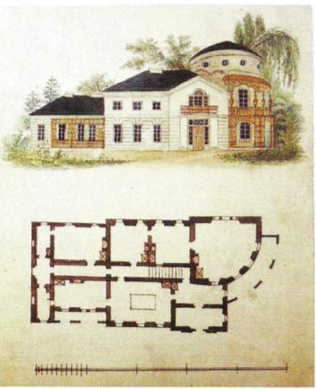 10. Projekt pałacu wiejskiego, Lwowska Galeria Sztuki. Zamek w Olesku, fot. K. Kopania