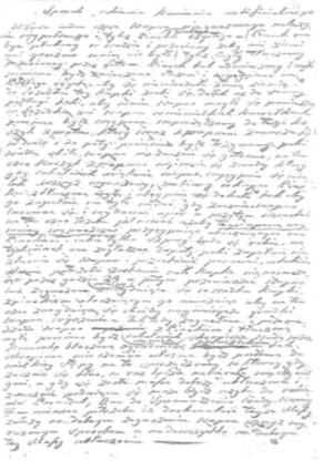 24. Przepis na produkcję sztucznego kamienia, Notatki M. Morskiej, BNL, fond 45, opis III, nr 2258/256, arkusz 122, Zakład Reprografii BNL