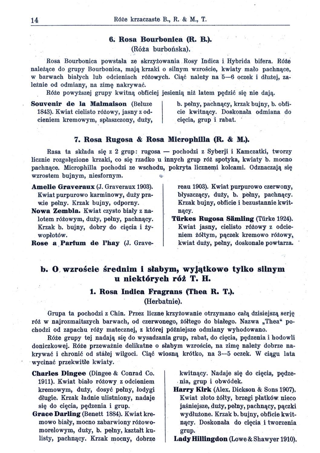 Cennik szkółek ogrodniczych Stanisława Dzieduszyckiego 14