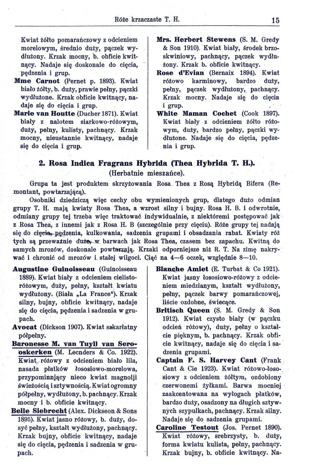 Cennik szkółek ogrodniczych Stanisława Dzieduszyckiego 15