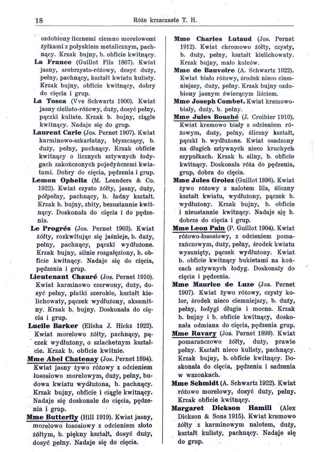 Cennik szkółek ogrodniczych Stanisława Dzieduszyckiego 18