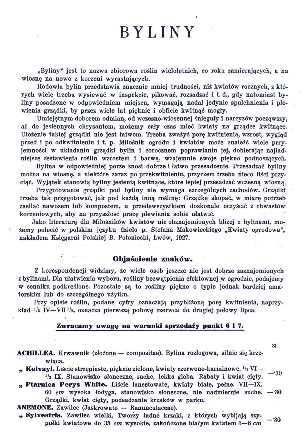 Cennik szkółek ogrodniczych Stanisława Dzieduszyckiego 27