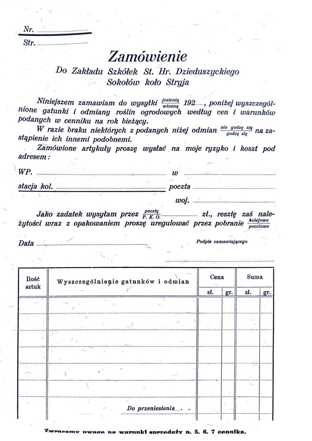 Cennik szkółek ogrodniczych Stanisława Dzieduszyckiego 41