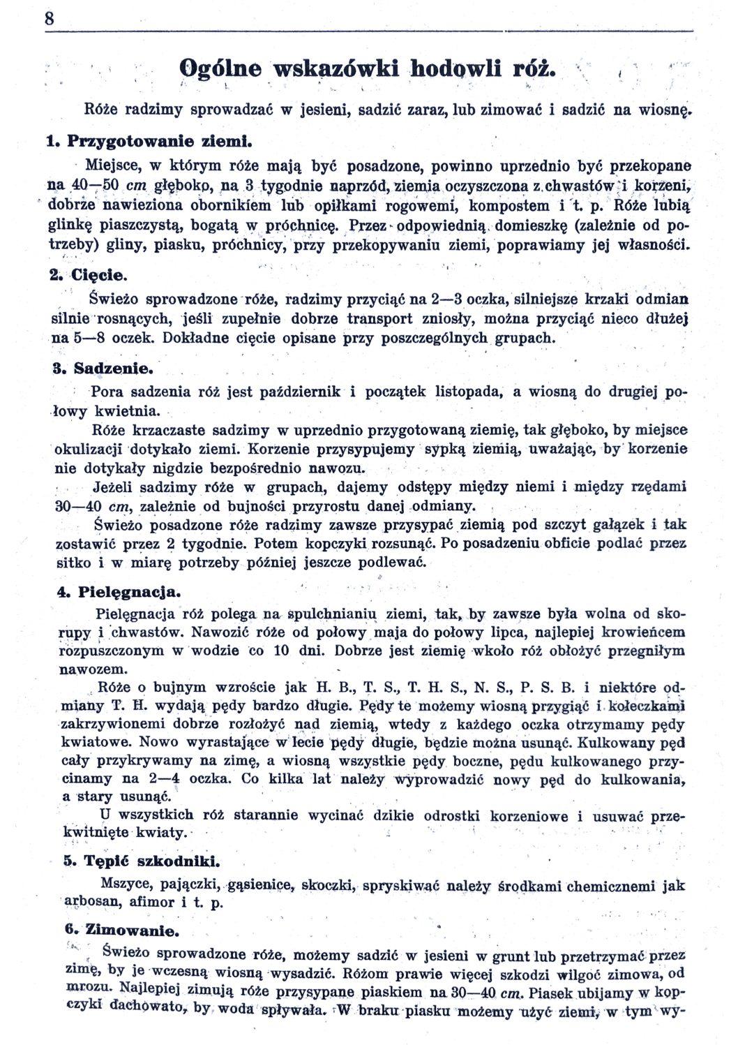 Cennik szkółek ogrodniczych Stanisława Dzieduszyckiego 8