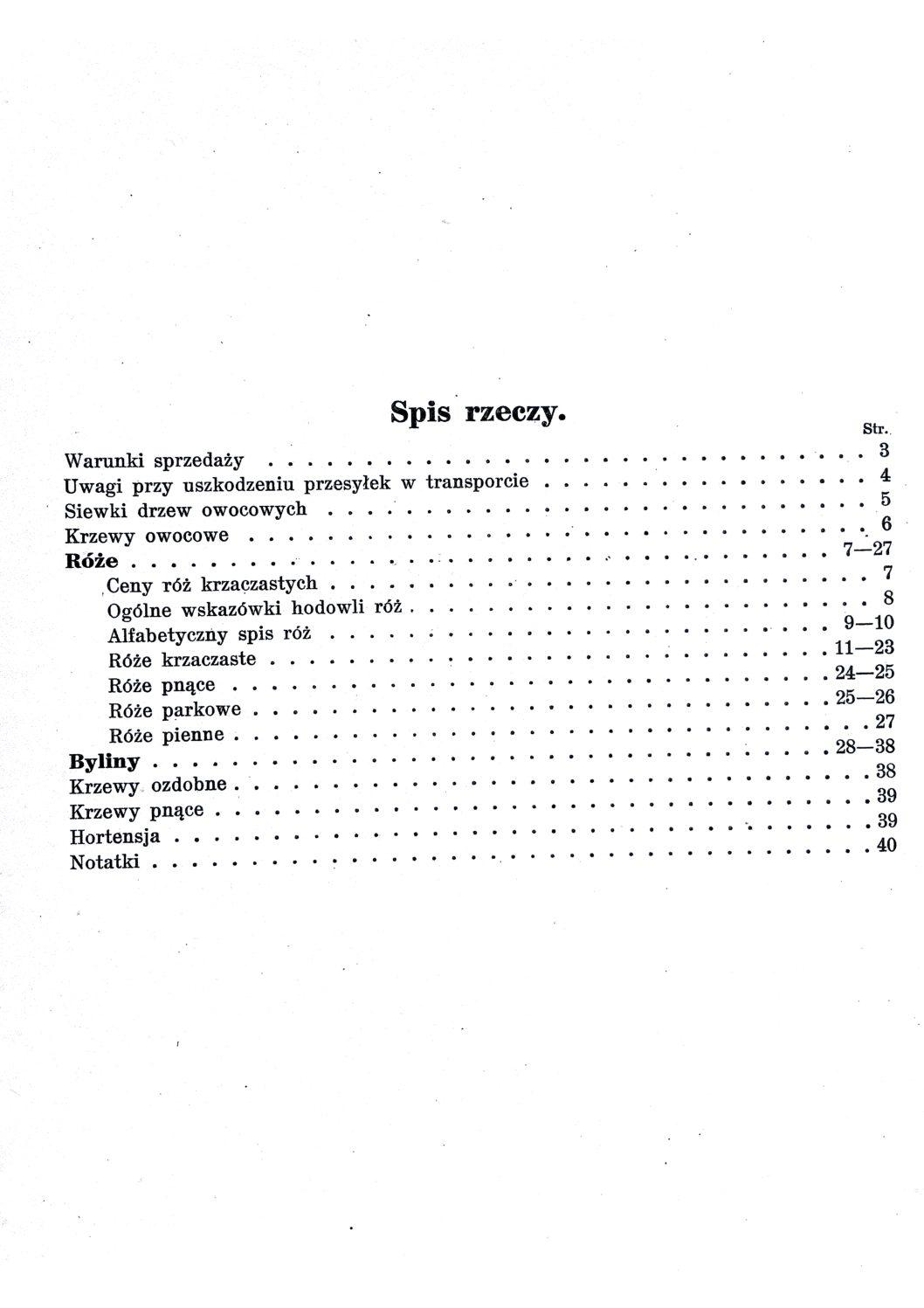 Cennik szkółek ogrodniczych Stanisława Dzieduszyckiego 4