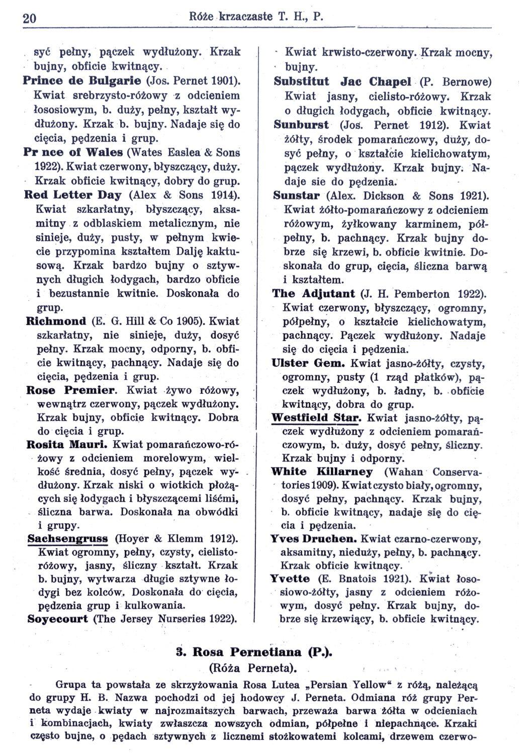Cennik szkółek ogrodniczych Stanisława Dzieduszyckiego 20