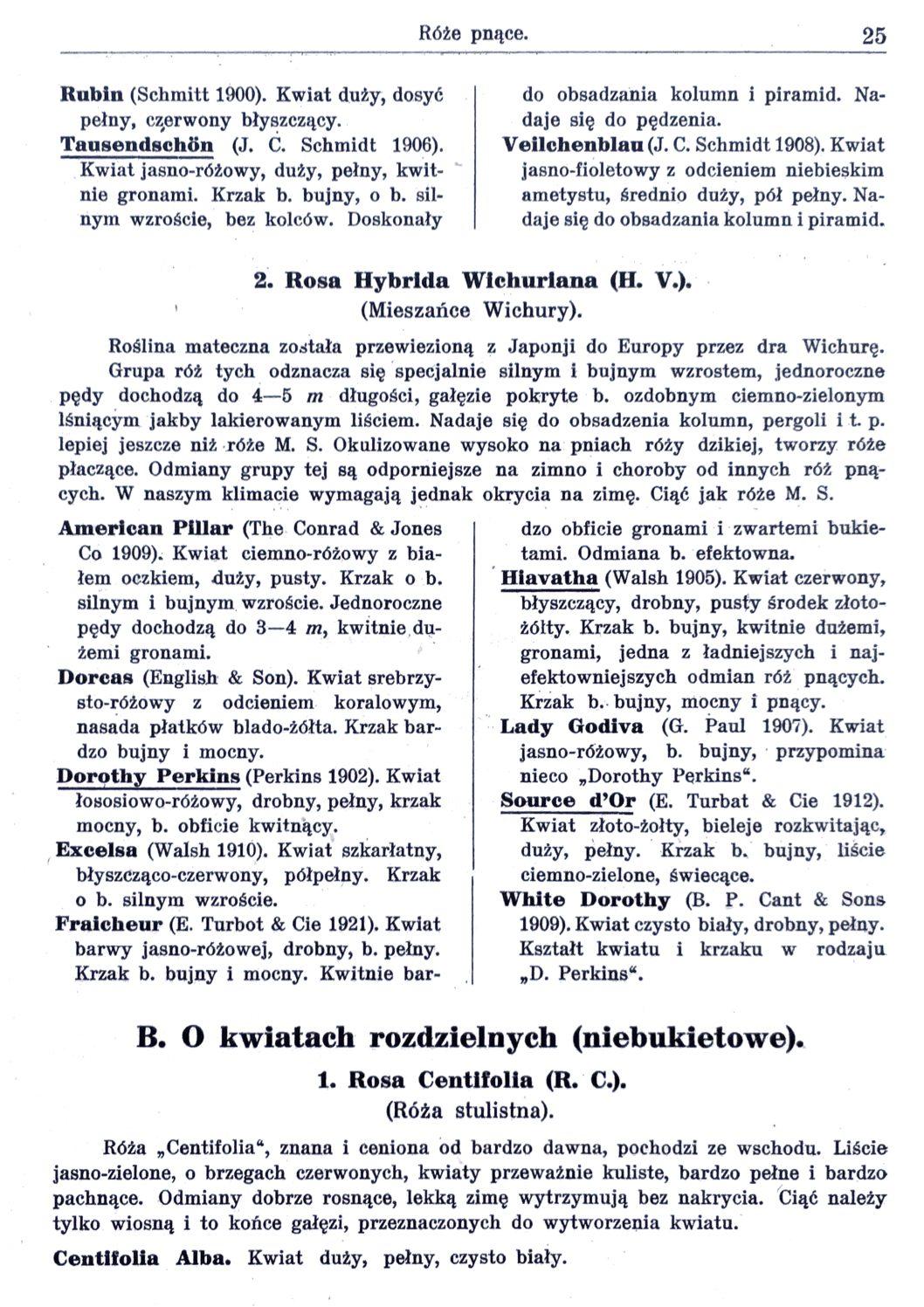 Cennik szkółek ogrodniczych Stanisława Dzieduszyckiego 25