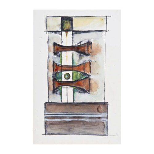Bez tytułu, 1967 akwarela, tusz, gwasz, flamaster