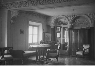 Pałac w Zarzeczu, fragment pokoju na piętrze