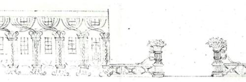 2. Projekt dekoracji elewacji pałacowej, BNL, fond 45, opis III, 2263/256, arkusz 5, Zakład Reprografii BNL