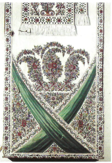 """9. Fragment drzwi szafy z ,,Pokoju, w którym świeci słońce"""", Muzeum w Jarosławiu. Kamienica Orsettich, fot. H. Górecki"""