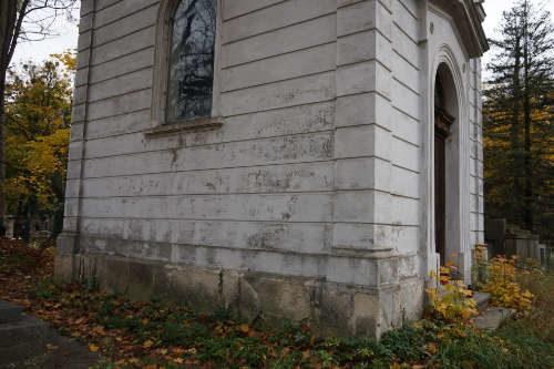 Miejsce po zburzonej kaplicy Dzieduszyckich