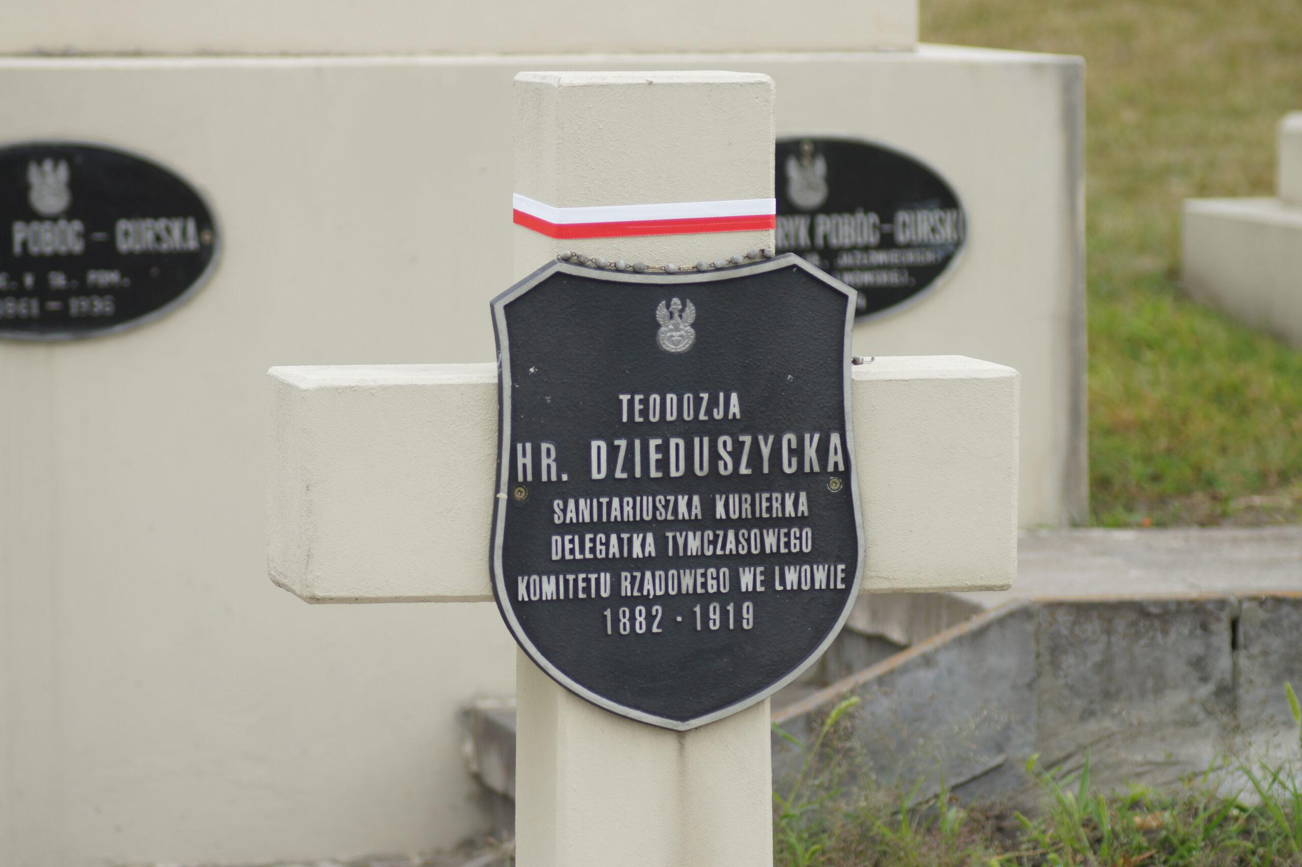 Cmentarz Orląt Lwowskich – grób Teodozji Dzieduszyckiej