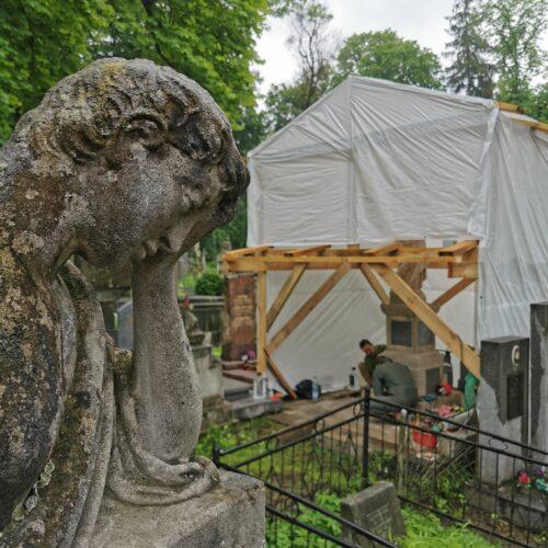 Figura Matki Boskiej – nagrobek Dzieduszyckich